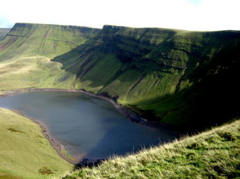 Llyn y Fan Fach and the Black Mountain