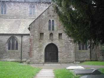 Brecon Cathedral entrance