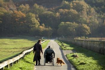 wheelchair user at Talybont