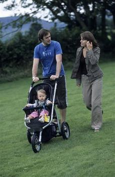 walkers with pushchair